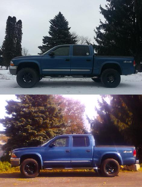 Before and after pics-Leveling Kit - Dodge Dakota Forum ...