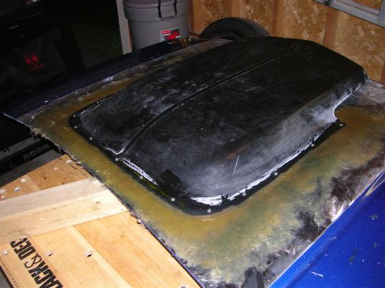 D T Dakota Scoop Has Been Fiberglassed Down Custom on 06 Dodge Dakota Roll Pan